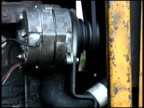 Electric Motor and Fanbelt in Engine
