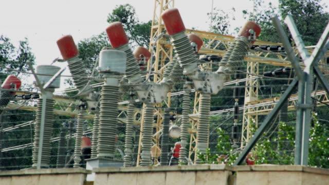Stazione elettrica. Sfondo industriale