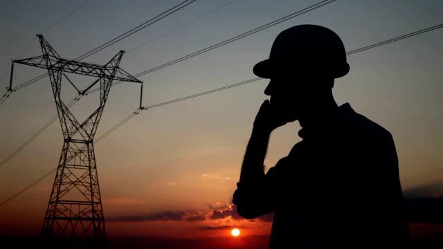 Elektrische Ingenieur Silhouette