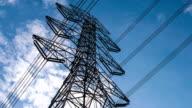 Electricity pylons timelapse