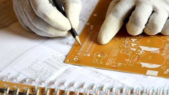 Electronic on blueprint