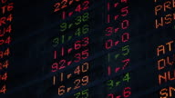 CU Electronic screens showing changing stock prices at Bovespa stock exchange / Sao Paulo, Brazil