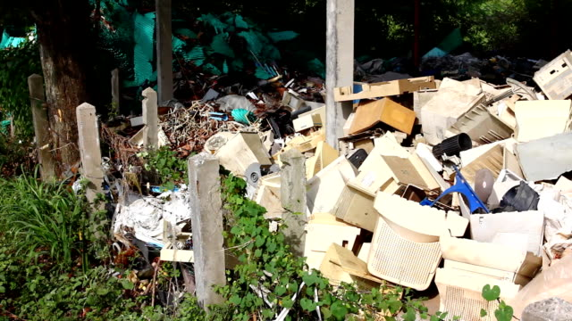 Electronical garbage dump site
