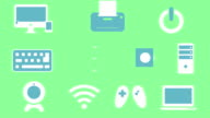 Electronics icons animation