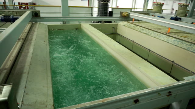 electroplate reactor pool working in factory