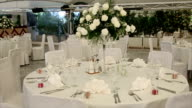 Elegant banquet hall interior