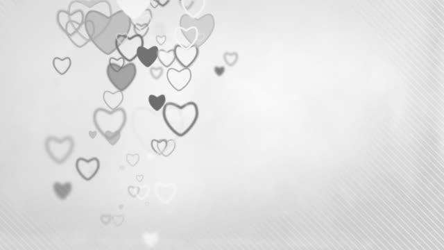 Elegant Hearts Background Loop - Pastel Grey (Full HD)