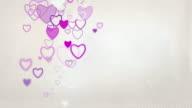 Elegant Hearts Background Loop - Pastel Pink (Full HD)