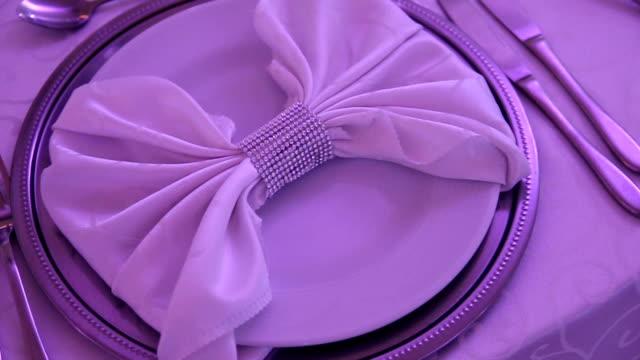 Elegant restaurant table set for event
