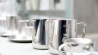 elegant steel accessories on counter