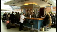 Elektra the Hawk at St Pancras station Various shots of customers sitting in champagne bar at station