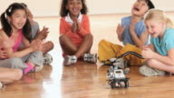 MS PAN Elementary School children with robot / Richmond, Virginia, United States