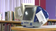 WGN Elementary School Hosts Apple Exhibit iMac G3 Desktop Computer on November 04 2013 in Chicago Illinois