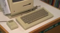 Elementary School Hosts Apple Exhibit Keyboard On Macintosh 128k Desktop Computer on November 04 2013 in Chicago Illinois
