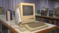Elementary School Hosts Apple Exhibit Macintosh 128K Desktop Computer on November 04 2013 in Chicago Illinois