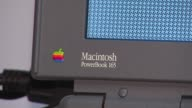 Elementary School Hosts Apple Exhibit Macintosh Powerbook 165 Laptop on November 04 2013 in Chicago Illinois