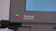 Elementary School Hosts Apple Exhibit Macintosh Powerbook 165 Laptop on November 04 2013 in Chicago Illinois