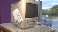 Elementary School Hosts Apple Exhibit Power Macintosh G3 Desktop Computer on November 04 2013 in Chicago Illinois