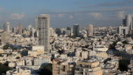 Elevated city view towards the commercial and business center, Tel Aviv, Israel, Middle East