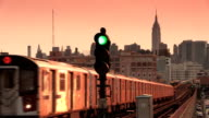 Elevated Subway 7 Train in Sunnyside Queens