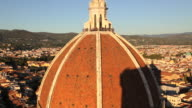 Elevated view Duomo Cathedral dome, observation point overlooking the magnificent city of Florence, Italy, Europe