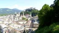 Elevated View of Salzburg (Tilt Up)