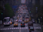 Elevated View of Traffic on 5th Avenue, New York, USA