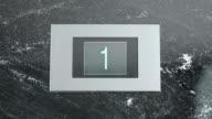 LD Elevator indicator screen showing floor number