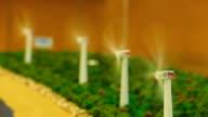 Eleven Wind Turbines