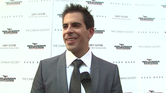 Eli Roth on going from director to actor why he wanted to be a part of this project and what it was like to work with Brad Pitt at the The Cinema...