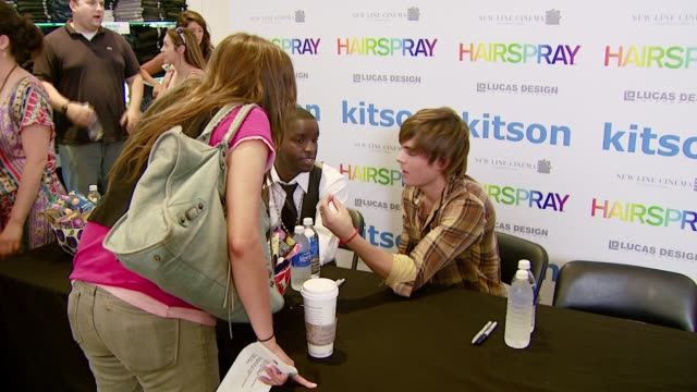 Elijah Kelley and Zac Efron at the 'Hairspray' Jewelry Collection Launch at Kitson in Los Angeles California on July 15 2007