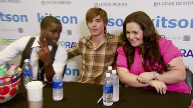 Elijah Kelley Zac Efron and Nikki Blonsky at the 'Hairspray' Jewelry Collection Launch at Kitson in Los Angeles California on July 15 2007
