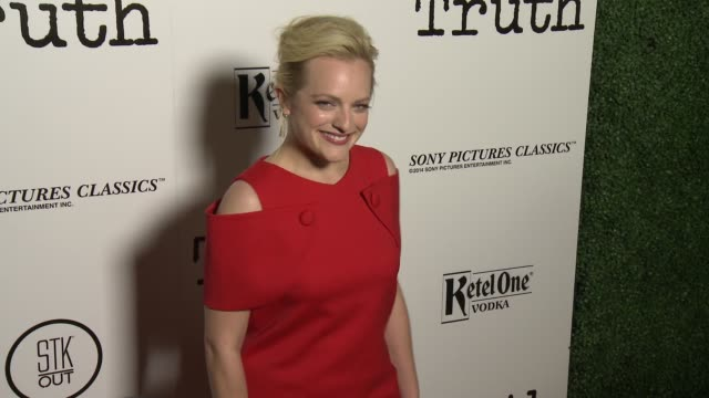 Elisabeth Moss at the 'Truth' Los Angeles Screening at Samuel Goldwyn Theater on October 5 2015 in Beverly Hills California