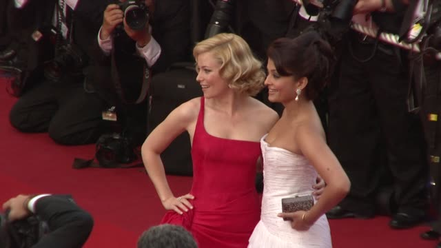 Elizabeth Banks and Aishwarya Rai Bachchan at the Cannes Film Festival 2009 Opening Night/Up Steps at Cannes