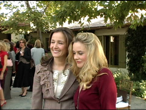 Elizabeth Wiatt and Alicia Silverstone at the Eco Salon on the Children's Health Crisis in America Hosted by the NRDC and Ralph Lauren at Brian and...