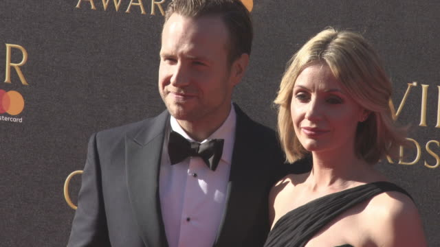 Elize du Toit Rafe Spall at The Olivier Awards with MasterCard on April 09 2017 in London England