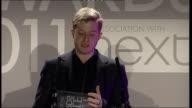 ceremony Laura Bailey speech SOT Announces Dominic Jones as winner of Best Jewellery Designer award Dominic Jones acceptance speech SOT Thanks people...