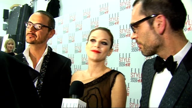Arrivals and interviews Anna Friel Viktor Horsting and Rolf Snoeren interview SOT