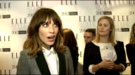 Elle Style Awards in London INT Alexa Chung SOT On dressing like a 'man tonight' On Hosting the Elle Style Awards 'Didnt cock it up the first three...