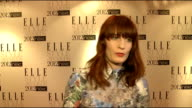 Elle Style Awards in London INT Naomi Harris General views Florence Welsh interview SOT On Fashion Week 'I think im on tour' On what fashion means...