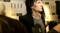 Elle Style Awards in London INT Ronnie Wood General views Ronnie Wood from other crew On What makes a good model On Whitney Houston 'never met her...