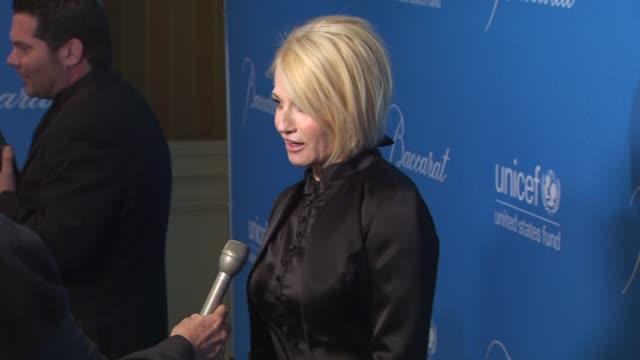 Ellen Barkin at the UNICEF Ball Honoring Jerry Weintraub at Beverly Hills CA