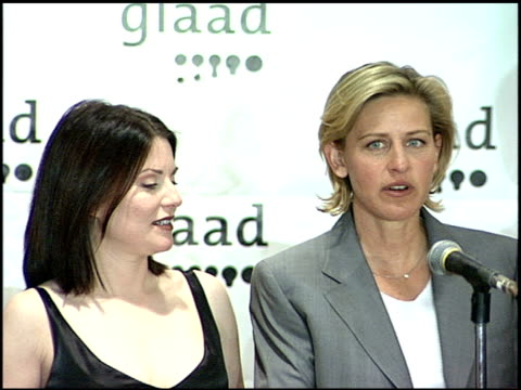 Ellen DeGeneres at the Glaad Awards 99 at Century Plaza in Century City California on April 17 1999