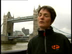 Ellen MacArthur interview / general views catamaran ENGLAND London EXT Dame Ellen MacArthur interview SOT On iShares Cup regatta and top...