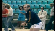 Elton John playing tennis/ Elton John interview with Donnie Sutherland re John McEnroe and on retiring