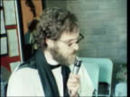 Birmingham Crowds turn up for service sermon Hound Dog played Girls boys cry Dancing in church