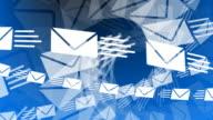 Email Envelopes Flying