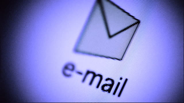 E-mail icon spinning on screen