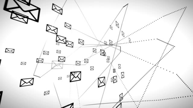 Email network animation