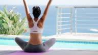 Embracing the morning through yoga